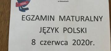 Matura 2020 wNLO SMS PZHL Katowice